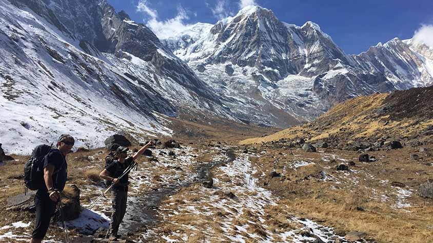Annapurna Sanctuary with DK