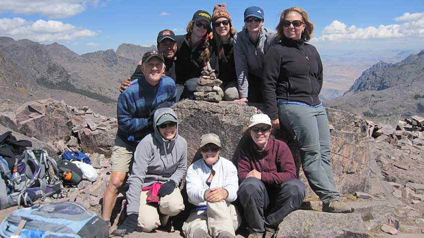 Group photo highest point Lares Inca Trail