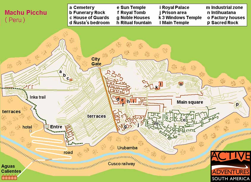 Machu Picchu Map Thumb Active Adventures