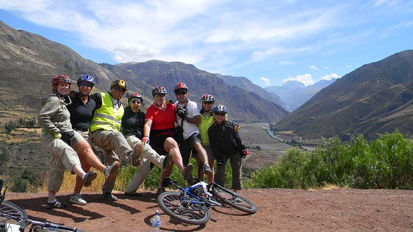 Fun Group Cycling Perus Sacred Valley with Active Adventures South America