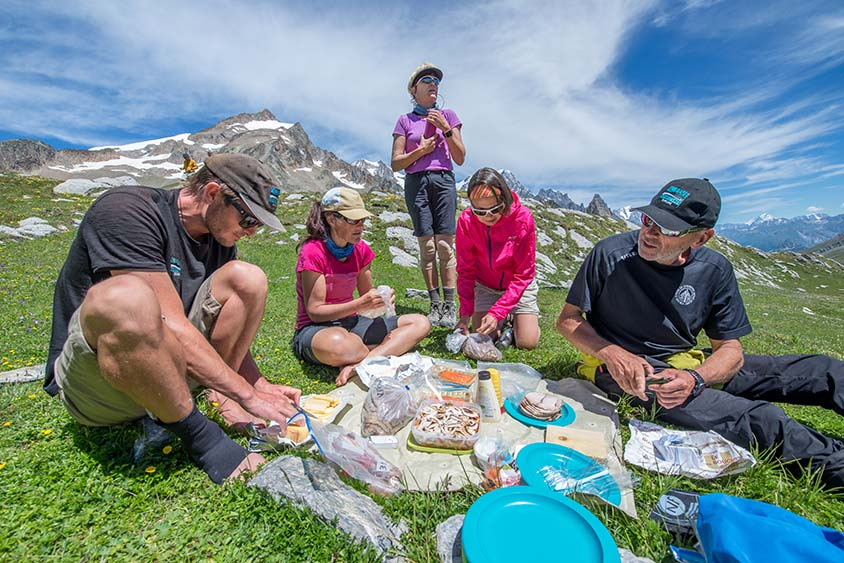 best time to hike the tour du mont blanc picnic on the trail