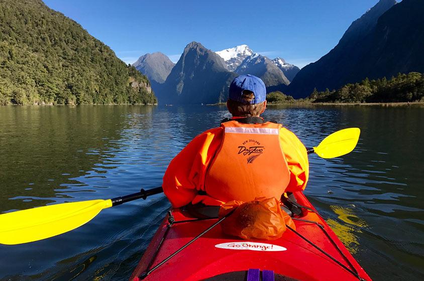 Kayaking Milford Sound