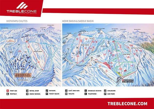 Treble Cone Ski Resort, New Zealand
