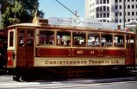Image of tram in Christchurch New Zealand