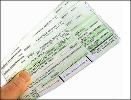 Airline Tickets - the old printed kind!