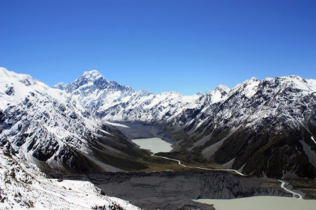 Image of Aoraki Mt Cook National Park, in winter in New Zealand