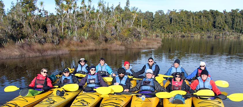 Kayaking Okarito Lagoon with Active Adventures