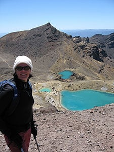 Above the Emerald Lakes on the Tongariro Crossing