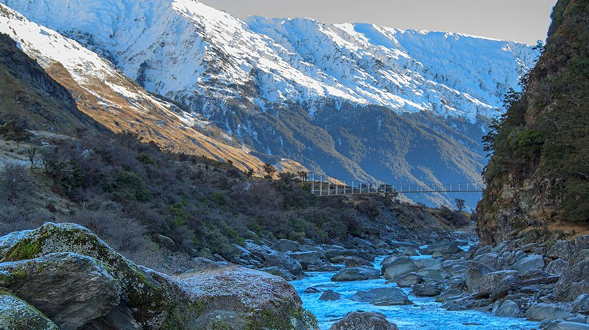 Mount Aspiring Hike during winter