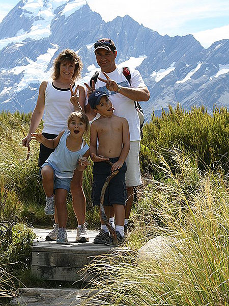 family-hiking-mt-cook
